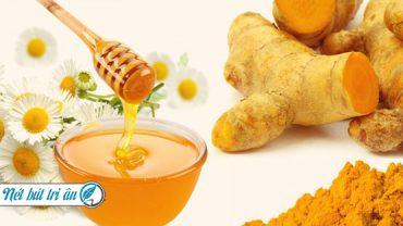 tinh bột nghệ mật ong chữa bệnh gì